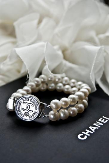 chanel pearl silver bracelet_1
