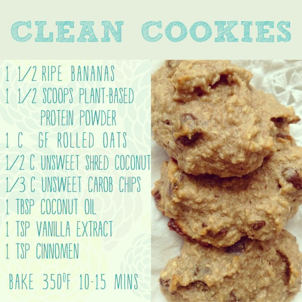 lean clean banana cookie