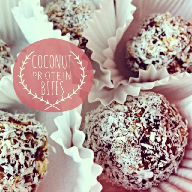 Coconut Protein Bites: livengproof.com