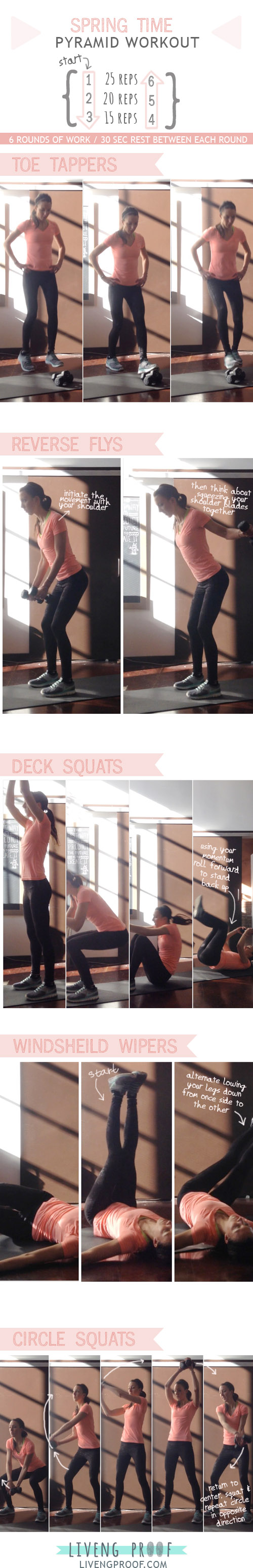 spring time pyramid workout