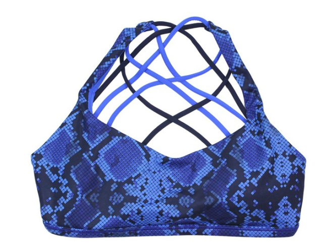 Lululemon Womens Mini Ziggy Snake Pipe Blue Sapphire Free to Be Bra