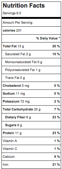 protein granola nutrition facts