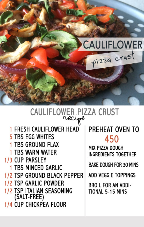 califlower pizza crust recipe