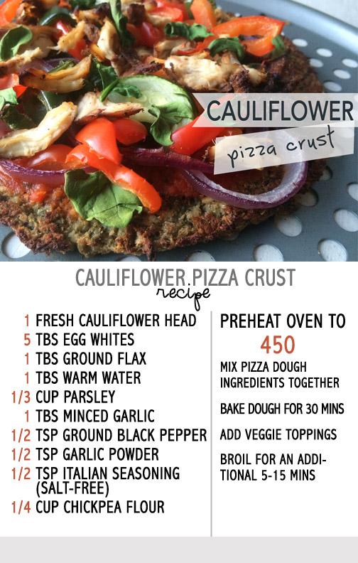 califlower pizza crust recipe