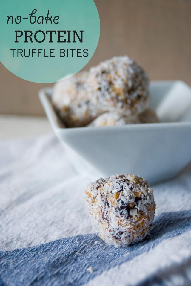 No Bake Protein Truffle Bites